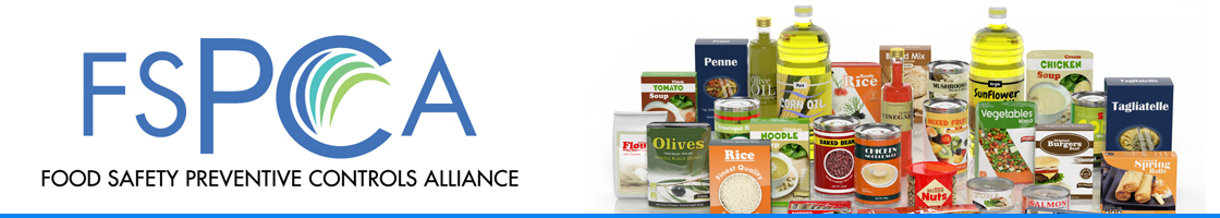 Food Safety Preventive Controls Alliance (FSPCA) Page Header