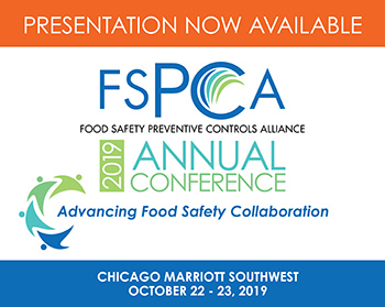 FSPCA Presentations and Conferences 2019